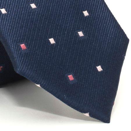 Gravata-com-desenhos-geometricos-em-seda-pura-Azul-textura-medium