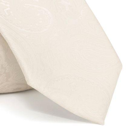 Gravata-com-desenho-cashmere-em-poliester-Branca-textura-large