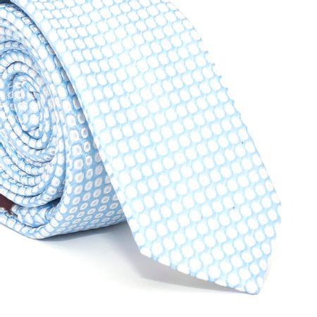 Gravata-Super-Slim-com-desenhos-geometricos-em-poliester-Azul-textura-medium-2