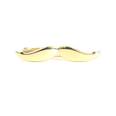 Prendedor-de-gravata-dourado-liso-em-formato-de-Bigode-2