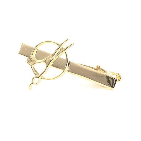 Prendedor-de-gravata-dourado-liso-em-formato-de-Tesoura-2