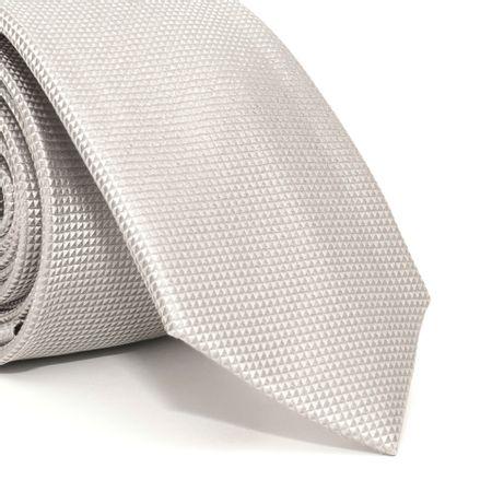 Gravata-Slim-com-desenho-falso-liso-em-seda-pura-Prata-textura-small
