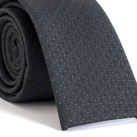 Gravata-Slim-bico-quadrado-com-desenhos-geometricos-em-poliester-Cinza-textura-small