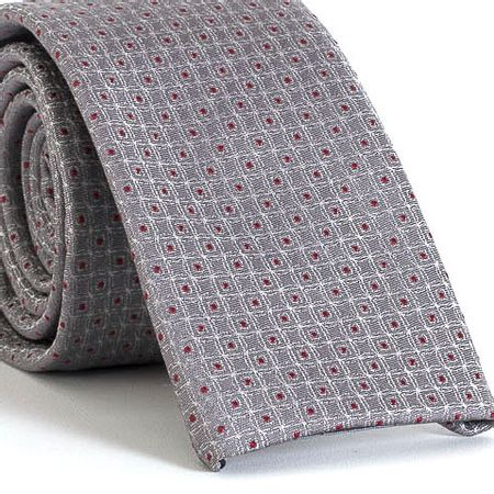Gravata-Slim-bico-quadrado-com-desenhos-geometricos-em-poliester-Cinza-textura-small-2