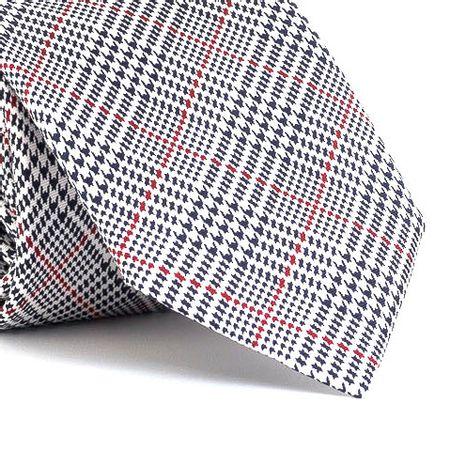 Gravata-estampada-em-seda-pura-com-desenho-geometrico-na-cor-Branca-textura-large