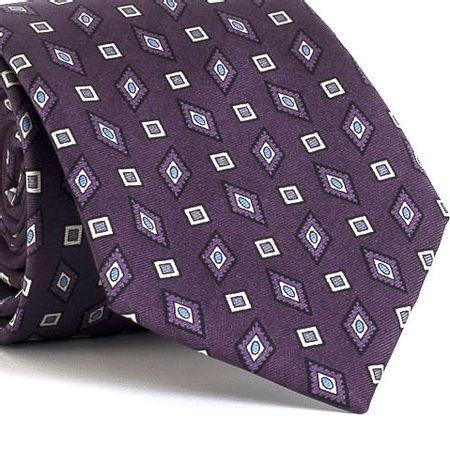 Gravata-estampada-em-seda-pura-com-desenho-geometrico-na-cor-Roxa-textura-medium