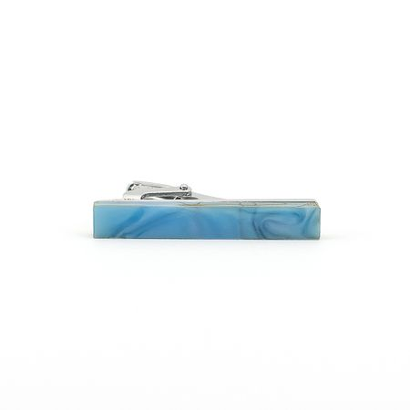 Prendedor-de-gravata-de-pedra-azul-liso-formato-retangular