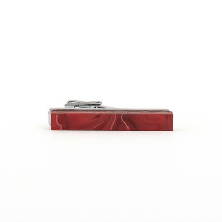 Prendedor-de-gravata-de-pedra-vermelha-liso-formato-retangular