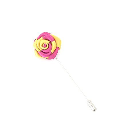 Pino-de-lapela-rosa-pink-com-amarelo-formato-de-flor-rosa