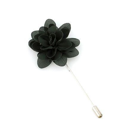 Pino-de-lapela-verde-musgo-em-formato-de-flor-crisantemo