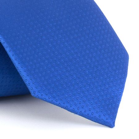 Gravata-em-poliester-texturizada-em-bolinhas-azul-royal