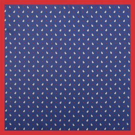 Lenco-de-bolso-com-desenho-gotas-em-poliester-marinho-com-cinza-e-vermelho