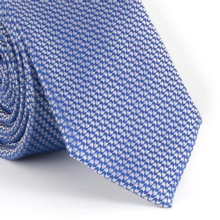 Gravata-Slim-com-desenho-falso-liso-poliester-azul-marinho