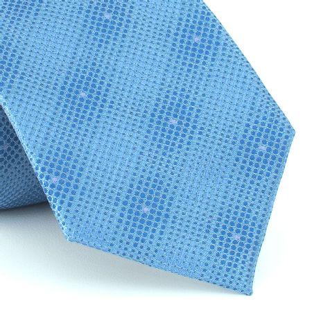 Gravata-Texturizada-em-jacquard-de-poliester-azul-claro-com-micro-pontos-lilas