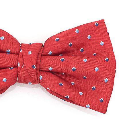 Gravata-borboleta-em-poliester-vermelho-com-detalhes-quadrados-em-tons-de-azul