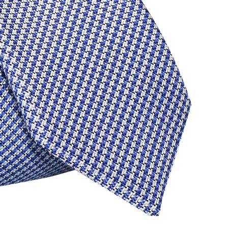 Gravata-Slim-em-poliester-pied-poule-azul-royal-com-fundo-branco1