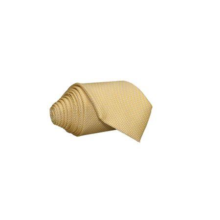 Gravata-Tradicional-seda-estampada-mosaico-amarelo-claro-com-fundo-branco2