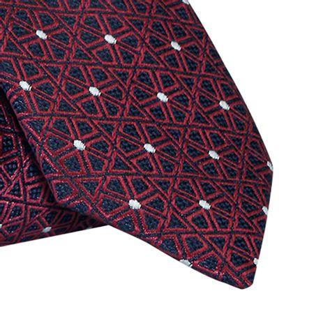 Gravata-Slim-em-poliester-floral-geometrico-marinho-com-vermelho-marsala1