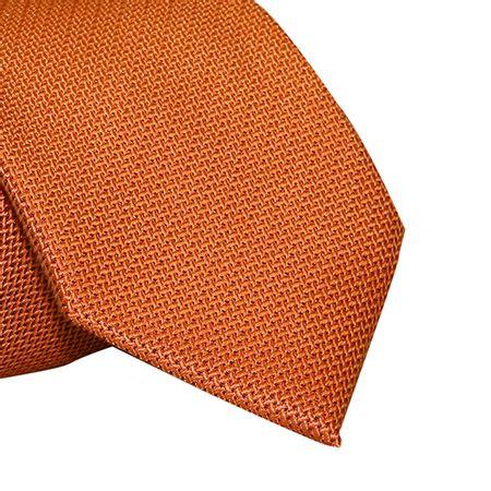 gravata-tradicional-laranja-pontilhada-em-preto1
