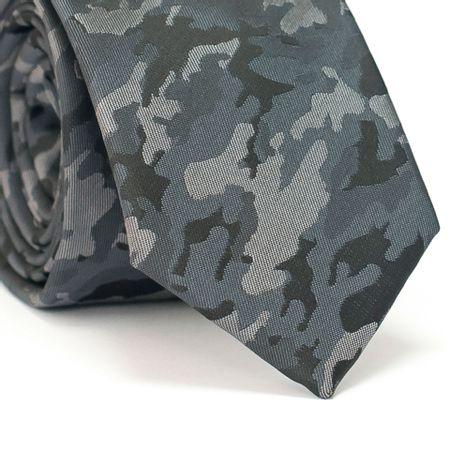 Gravata-Slim-Desenho-Camuflado-Cinza