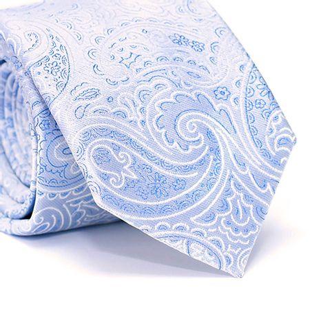 Gravata-Tradicional-em-Poliester-com-Desenho-Cashmere-na-cor-Azul-Claro