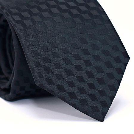 Gravata-Tradicional-em-Poliester-com-Desenho-Geometrico-na-cor-Preto