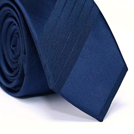 Gravata-Slim-em-Poliester-Azul-com-Desenho-Listrado-Azul
