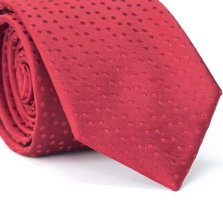 Gravata-Tradicional-em-Poliester-Vermelha-com-Desenho-Geometricos-Vermelho-