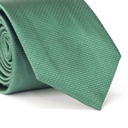 Gravata-Tradicional-em-Poliester-Verde-com-Falso-Liso