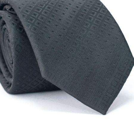 Gravata-Tradicional-em-Poliester-Preto-com-Desenhos-Geometricos-Preto
