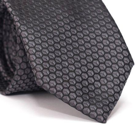 Gravata-Tradicional-em-Poliester-Preta-com-Desenhos-Geometricos-de-Cubo