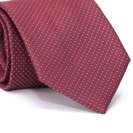 Gravata-Tradicional-em-Seda-Pura-Vermelha-com-Micro-Poa