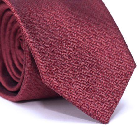 Gravata-Tradicional-em-Poliester-Vermelha-com-Detalhes-Preto