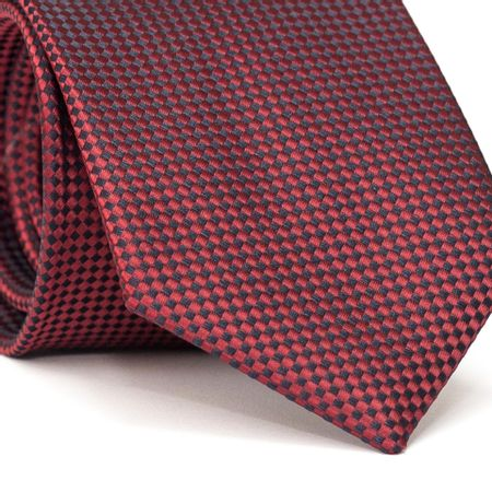Gravata-Tradicional-em-Poliester-com-Quadriculado-Vermelho-e-Preto
