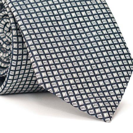 Gravata-Tradicional-em-Poliester-Preta-com-Desenho-Geometricos-em-Cinza
