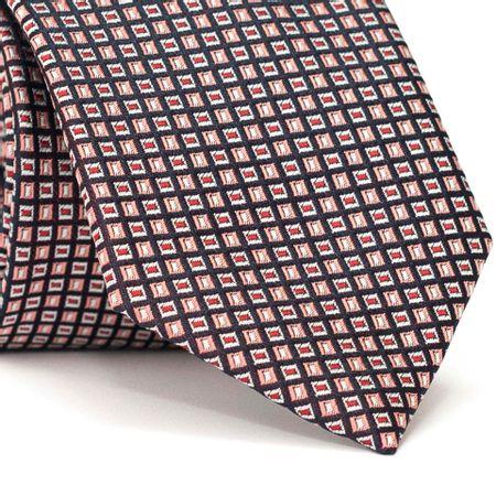Gravata-Tradicional-em-Poliester-Preta-com-Desenhos-Geometricos-Branco-e-Rosa-com-Detalhes-em-Branco-e-Vermelho-