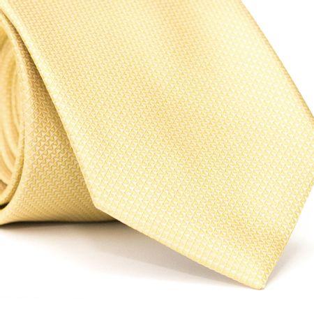 Gravata-Tradicional-em-Poliester-Amarela-com-Detalhes-em-Branco-na-Trama