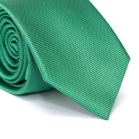 Gravata-Tradicional-em-Poliester-Falso-Liso-Verde-com-Fundo-Preto