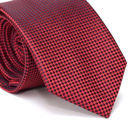 Gravata-Tradicional-em-Poliester-Furta-Cor-com-Quadriculado-Vermelha-e-Preto