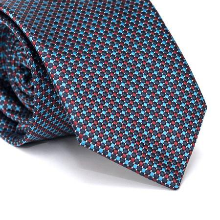 Gravata-Tradicional-em-Poliester-Azul-Marinho-com-Quadriculado-Azul-e-Vermelho-e-Detalhes-em-Branco