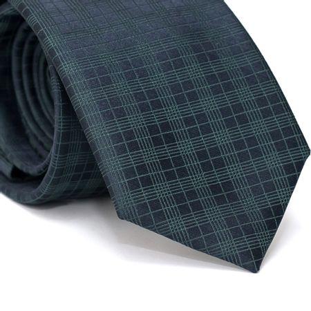 Gravata-Tradicional-em-poliester-Xadrez-verde-com-fundo-azul-marinho