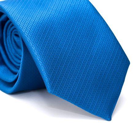 Gravata-Tradicional-em-Poliester-Falso-Liso-Azul-Royal-com-Detalhes