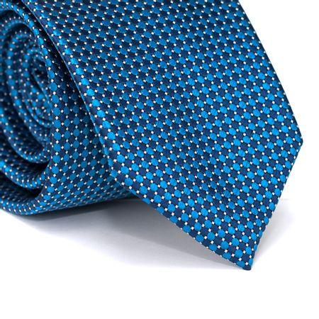 Gravata-Tradicional-em-Poliester-Azul-Marinho-com-Desenhos-Geometricos-em-Azul-e-Detalhes-em-Branco