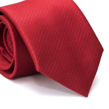 Gravata-Tradicional-em-Poliester-Falso-Liso-Vermelha-com-Detalhes