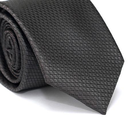 Gravata-Tradicional-em-Poliester-Falso-Liso-Cinza-Chumbo-com-Desenhos-Geometricos
