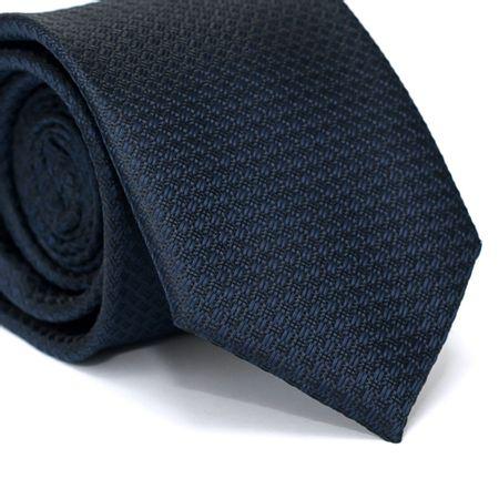 Gravata-Tradicional-em-Poliester-Azul-Marinho-com-Detalhes-em-Preto-na-Trama