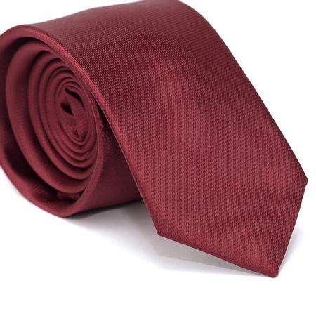 Gravata-Slim-em-Poliester-Falso-Liso-Vermelha