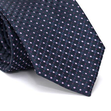 Gravata-Tradicional-em-Poliester-Azul-Marinho-com-Desenhos-Geometricos-Roxo-e-Roxo-Claro