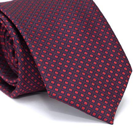 Gravata-Tradicional-em-Poliester-Azul-Marinho-com-Quadriculado-e-Detalhe-em-Vermelho