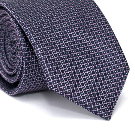 Gravata-Tradicional-em-Poliester-Roxa-Escura-com-Quadriculado-Roxa-e-Detalhes